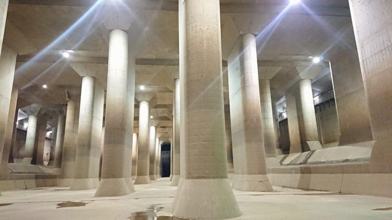 ここが地下神殿と呼ばれる「調圧水槽」