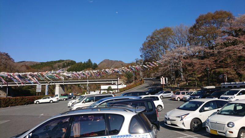 武甲温泉の駐車場