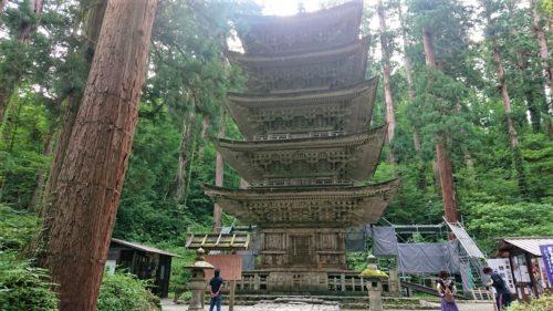 羽黒山の五重塔から三神合祭殿!石段はキツイけど登る価値あり!