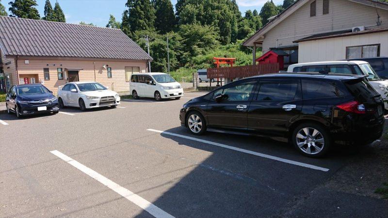 美人の泉の駐車場