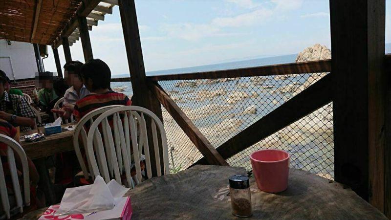 塩工房Salt&Cafe外のテラス席