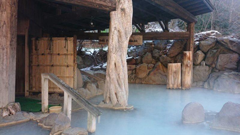 加仁湯の第三露天風呂(混浴)