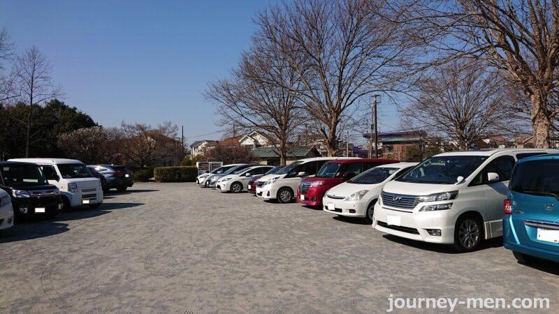 越谷梅林公園の駐車場